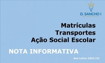 Matrículas || Transportes || Ação Social Escolar