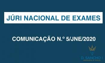 COMUNICAÇÃO N.º 5/JNE/2020