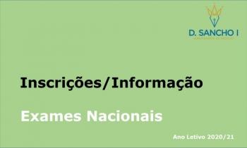 Inscrições - Exames Nacionais